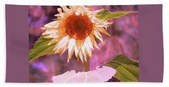 Super Star Sunflower - Sunflower Art From The Garden - Floral Photography Beach Towel
