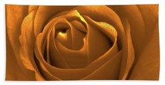 Bold Blossom Copper Rose Beach Sheet by Patricia E Sundik