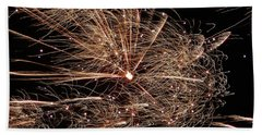 Beach Towel featuring the photograph Bold Burst #0711 by Barbara Tristan