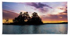 Beach Towel featuring the photograph Bold Sunset Over Lake Martin by Parker Cunningham