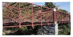 Bollman Truss Bridge At Savage In Maryland Beach Towel