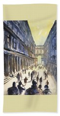 Beach Towel featuring the painting Bologna Sunset- Italy by Ryan Fox