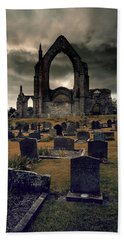 Bolton Abbey In The Stormy Weather Beach Towel by Jaroslaw Blaminsky