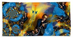 Beach Towel featuring the painting Bonamassa Mania by Miki De Goodaboom
