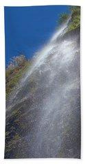 Bonita Waterfalls Splatter Beach Towel by Viktor Savchenko