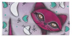 Bonnie Cat Beach Sheet by Abril Andrade Griffith