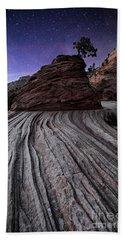 Bonzai In The Night Utah Adventure Landscape Photography By Kaylyn Franks Beach Towel