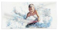 Boogie Boarding Beach Towel