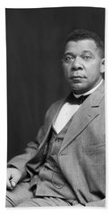 Beach Towel featuring the painting Booker T. Washington by Artistic Panda