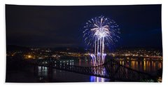 Fireworks In Beaver County  Beach Towel