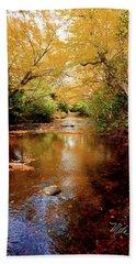 Beach Towel featuring the photograph Boone Fork Stream by Meta Gatschenberger