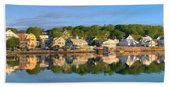 Booth Bay Reflections Beach Towel