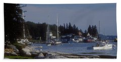 Boothbay Harbor In Maine Beach Sheet