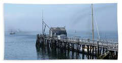 Boothbay Shipyard Dock Beach Towel