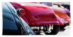 Boots Of Colorful Cars Beach Towel by Lora Lee Chapman