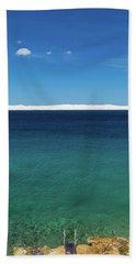 Beach Towel featuring the photograph Bora In Velebit Kanal I by Davor Zerjav