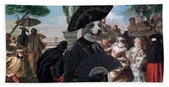 Border Collie Art Canvas Print - The Minuet Beach Sheet