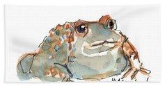 Boreal Chorus Frog Beach Towel by Kathleen McElwaine