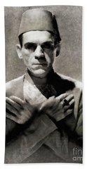 Boris Karloff In The Mummy By Js Beach Towel