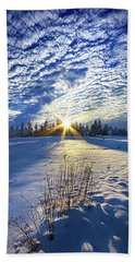 Beach Sheet featuring the photograph Born As We Are by Phil Koch