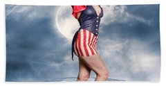 Born In The Usa Beach Towel