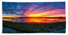Bosque Sunrise Beach Towel by Kristal Kraft
