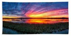 Beach Sheet featuring the photograph Bosque Sunrise by Kristal Kraft