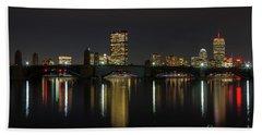 Boston Skyscrappers Behind Bridge Beach Towel