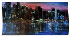 Boston At Night Beach Towel