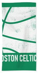 Boston Celtics City Poster Art 2 Beach Towel