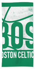 Boston Celtics City Poster Art Beach Towel