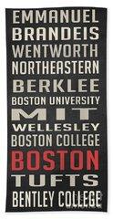 Boston Collegetown Beach Towel by Edward Fielding