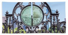 Boston Garden Gate Detail Beach Towel