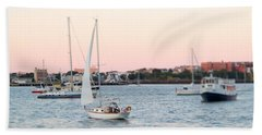 Boston Harbor View Beach Towel