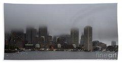 Boston In The Fog Beach Sheet