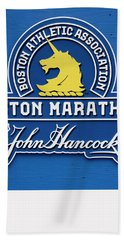 Beach Towel featuring the photograph Boston Marathon - Boston Athletic Association by Joann Vitali