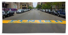 Boston Marathon Finish Line Beach Towel