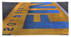 Boston Marathon Finish Line Beach Sheet