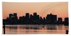Boston Outline Beach Towel