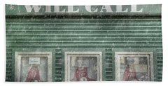 Beach Sheet featuring the photograph Boston Red Sox Fenway Park Ticket Booth In Winter by Joann Vitali