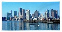 Boston Skyline B Beach Towel