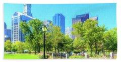 Boston Skyline From Columbus Park Beach Towel