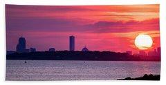 Boston Skyline Worlds End Beach Sheet