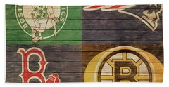 Boston Sports Teams Barn Door Beach Towel