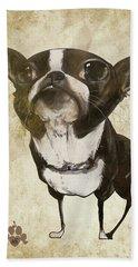 Boston Terrier - Antique Beach Sheet
