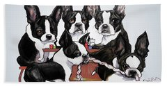 Boston Terrier - Dogs Playing Poker Beach Towel