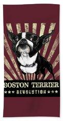 Boston Terrier Revolution Beach Towel