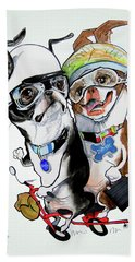 Boston Terriers - Dumb And Dumber Beach Towel