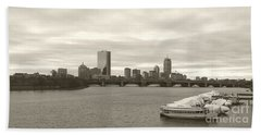 Beach Towel featuring the photograph Boston View by Raymond Earley