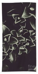 Botanical Blooms In Darkness Beach Towel